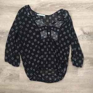Maurices Sheer Patterned Blouse